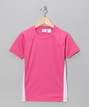 Girls Color Block Swim Tee