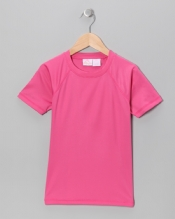 Girls Solid Swim Tee