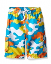 4-7 Boys Camo Swim Trunks